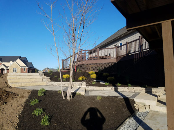 After  Paver Patio and Landscaping on slope  3