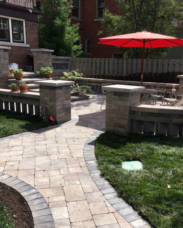 Brick Paver Walkway Installation view 3