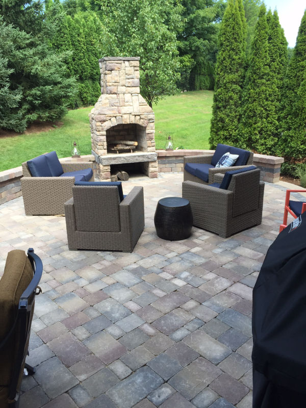 stone and paver patio installation