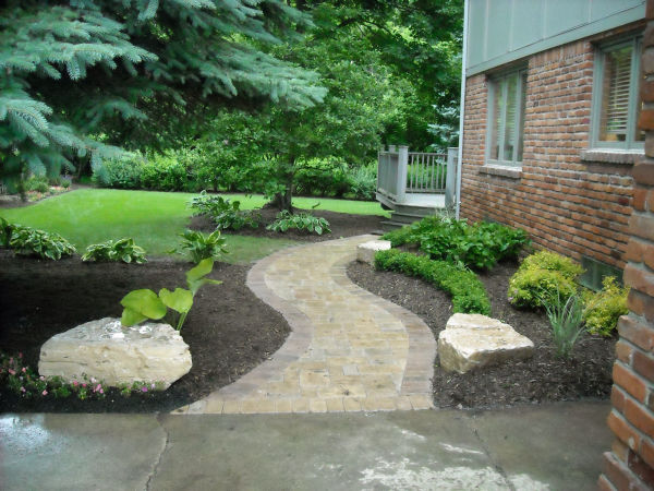 Paver Walkway and Landscape design