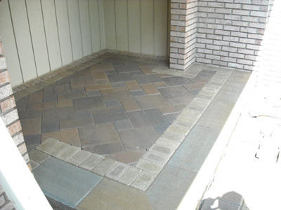 Brick Paver Front Porch Bloomfield Michigan