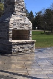 Troy Michigan Landscaping Brick Paver Walkway Higher