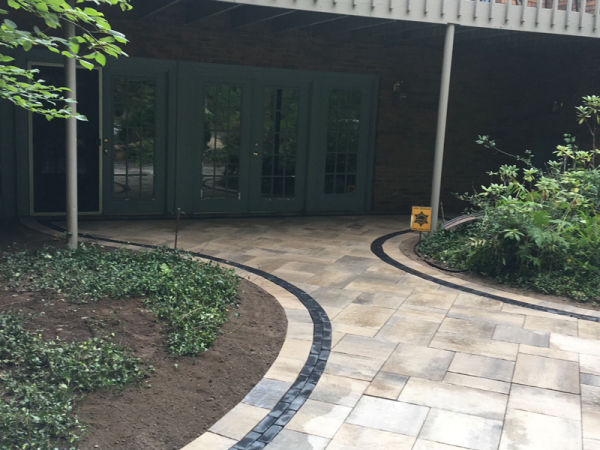 Paver Patio and Garden Wall