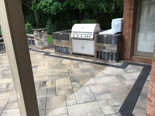 Brick Pavers and Grill Surround Installation