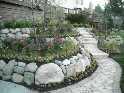 stone retaining wall west bloomfield