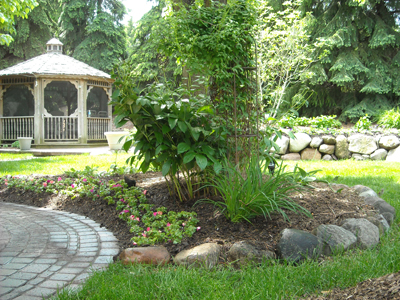Troy michigan landscaping professionals higher ground for Landscape design michigan