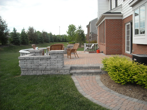 Landscaping Michigan. Brick pavers and brick patios installed in ...